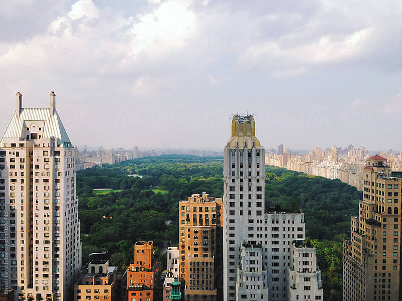 Upper Manhattan Skyline and Central Park  by Jared Harrell for Stocksy United