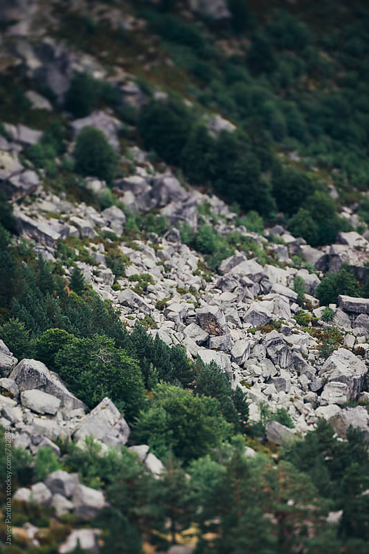 part of mountains with rocks by Javier Pardina for Stocksy United