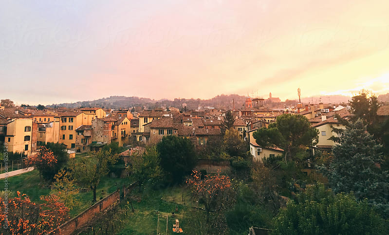 Old italian town at sunset by Giulia Squillace for Stocksy United