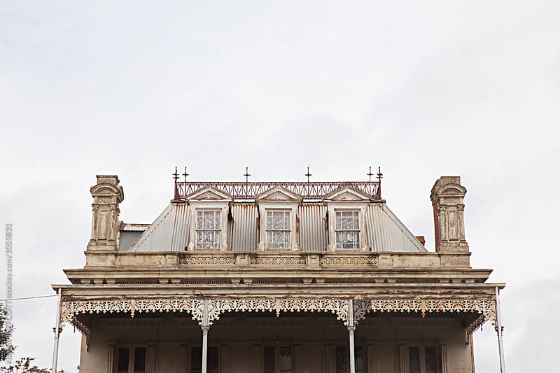 Old Victorian era building in country Victoria, Australia by Natalie JEFFCOTT for Stocksy United