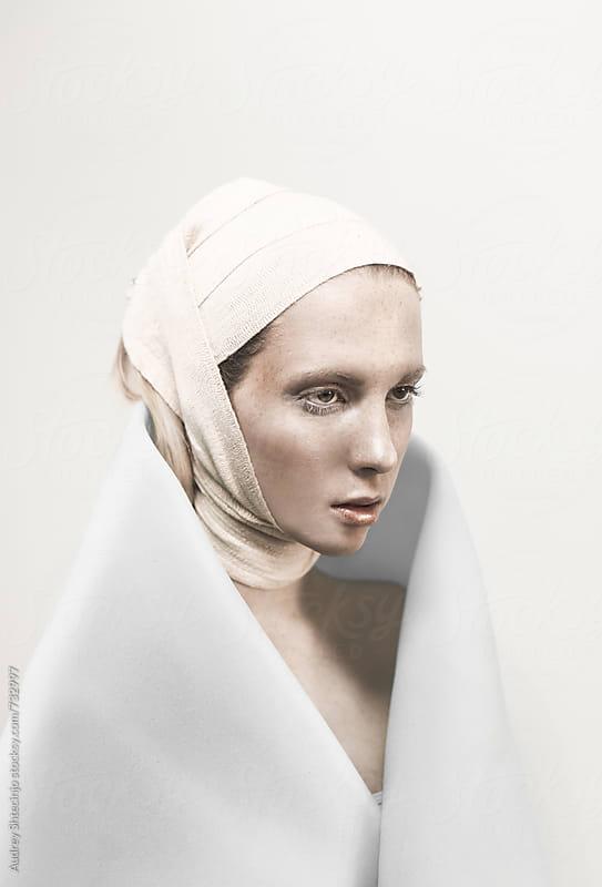 Conceptual fashion portrait of model. by Marko Milanovic for Stocksy United
