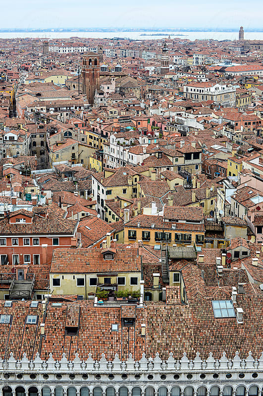Aerial views of Venice by Bisual Studio for Stocksy United