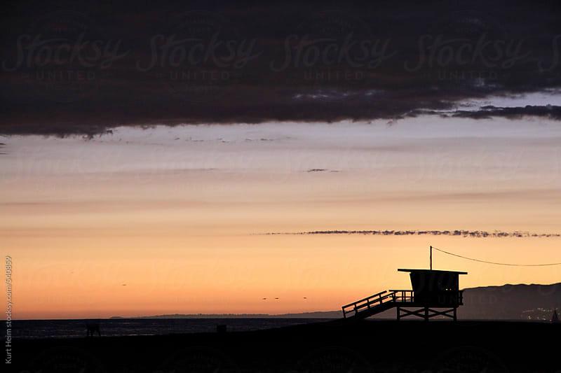 Dramatic Sunset Silhouette by Kurt Heim for Stocksy United