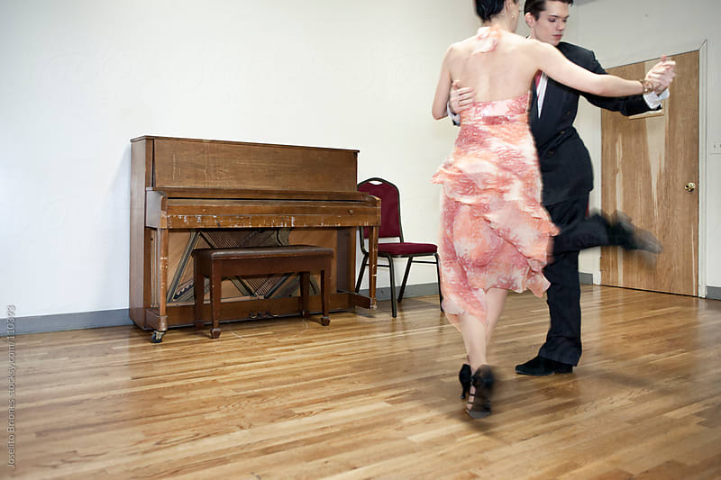 Tango Lessons in a Dance Studio by Joselito Briones for Stocksy United