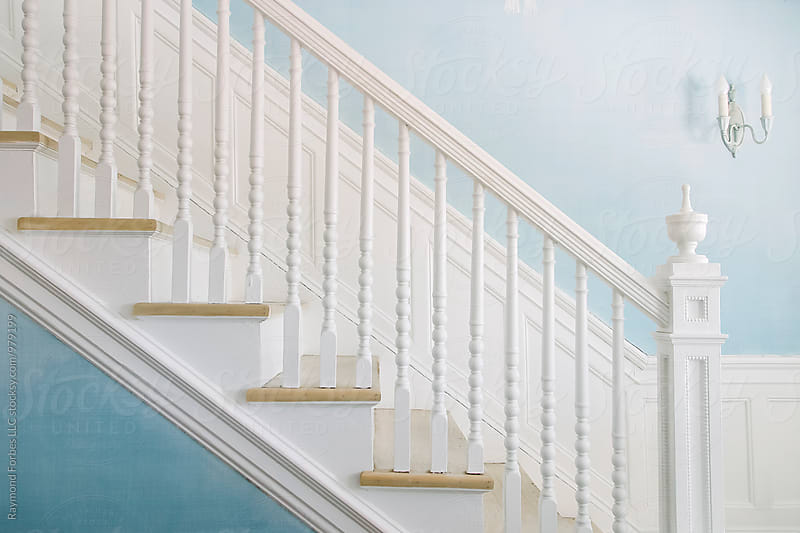 Blue Stairway by Raymond Forbes LLC for Stocksy United