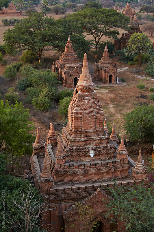 Buddhist Temples in Bagan Myanmar by Bo Bo for Stocksy United