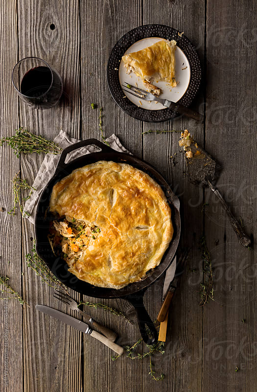 Skillet Chicken Pie  by Jeff Wasserman for Stocksy United