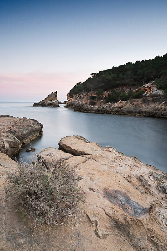 Beautiful cove at sunset by Marilar Irastorza for Stocksy United