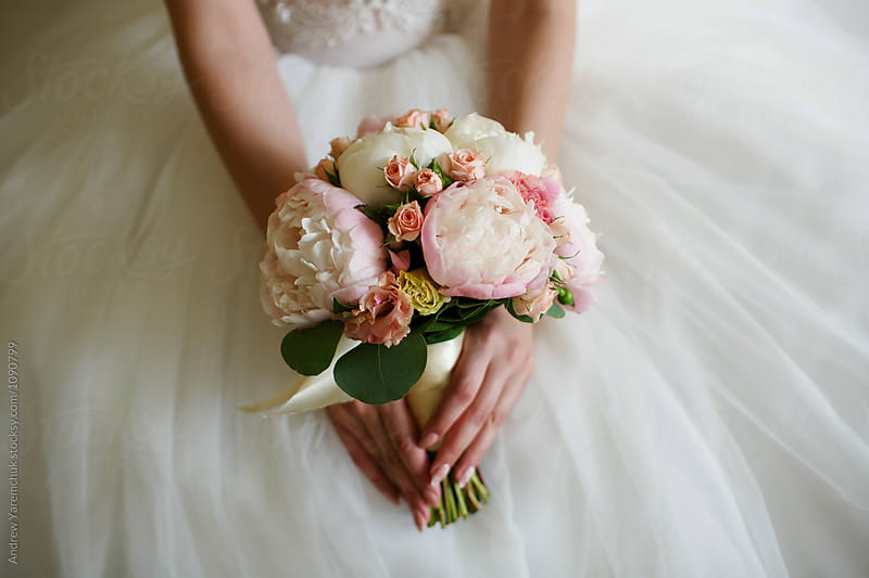 bridal bouquet by Andrew Yaremchuk for Stocksy United