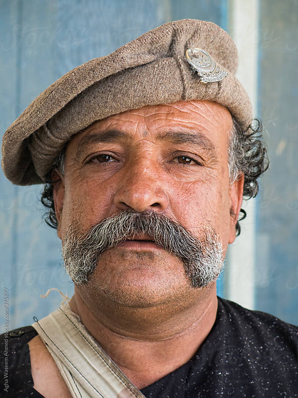A Tribal Man With Huge Mustaches ! by Agha Waseem Ahmed for Stocksy United