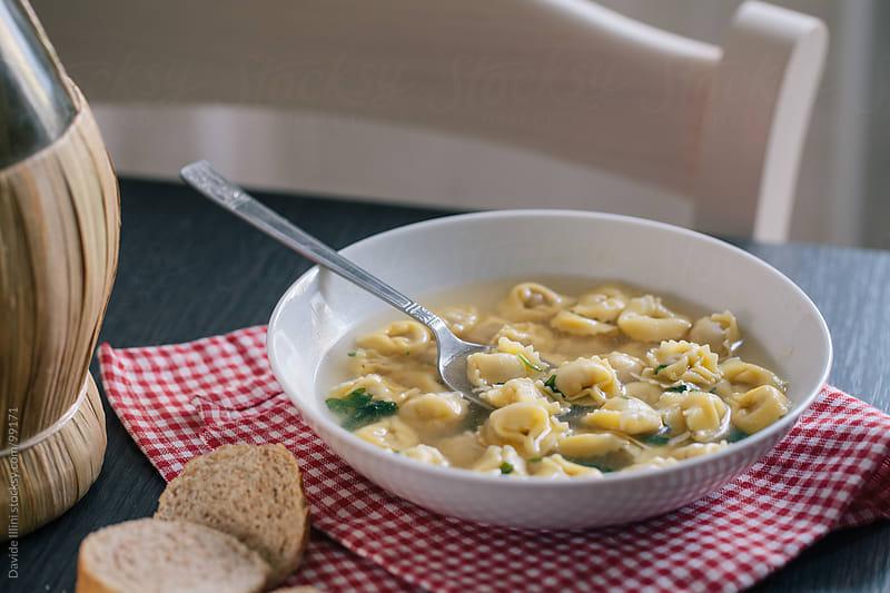 Tortellini in bouillon by Davide Illini for Stocksy United