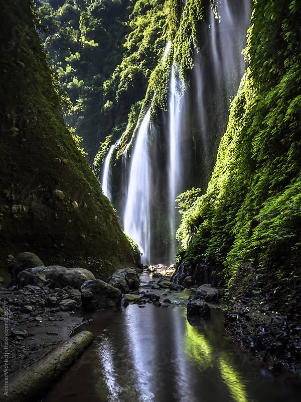 Madakaripura Waterfall by Andreas Wonisch for Stocksy United