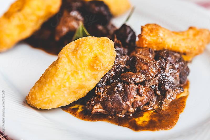 Pepper Stew with Potato Croquette, Tuscan Peposo by Giorgio Magini for Stocksy United