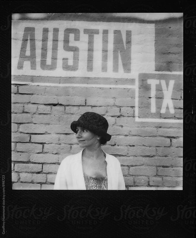 Polaroid of Young Woman in Austin, TX by Geoffrey Hammond for Stocksy United