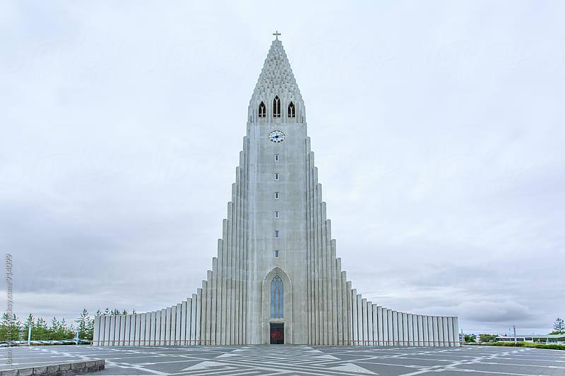 Hallgrímskirkja Church. Reykjavik. Iceland. by John White for Stocksy United