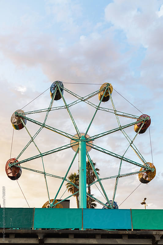 Amusement ride at the coast by Amy Covington for Stocksy United