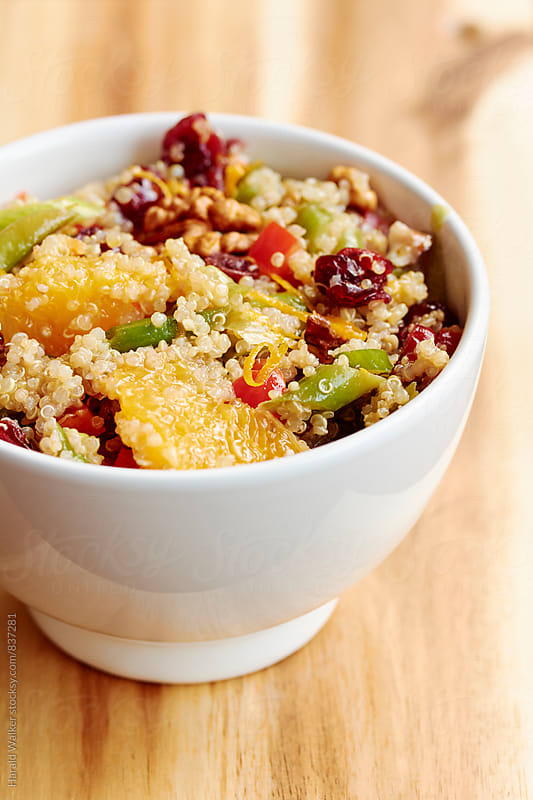 Quinoa Walnut Salad with Green Beans and Cranberries by Harald Walker for Stocksy United
