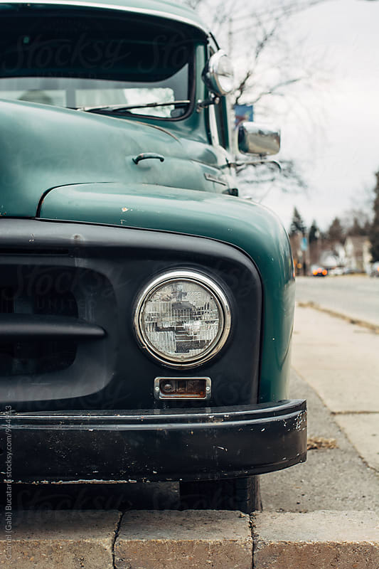 Headlight on a 1950's style truck by Gabriel (Gabi) Bucataru for Stocksy United