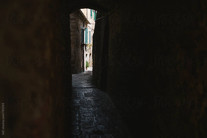 Narrow street in an Italian town by GIC for Stocksy United