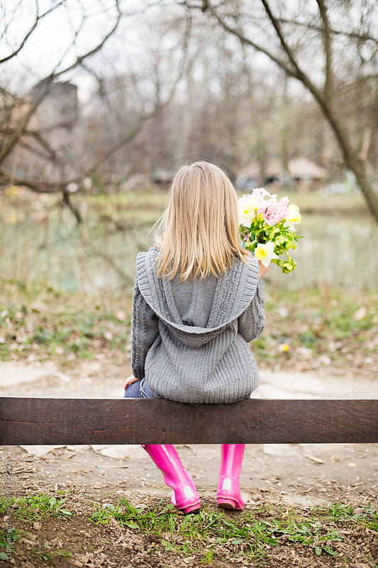 Girl Sitting on a Fence by Lumina for Stocksy United