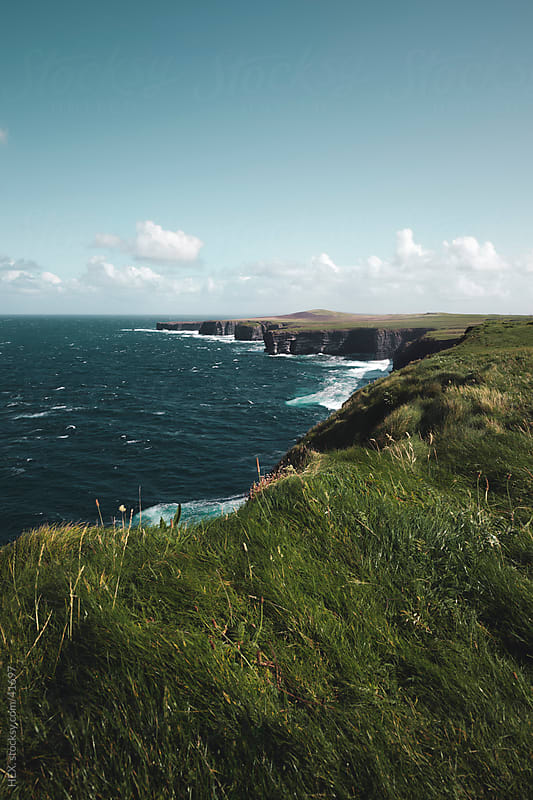Loop Head Cliffs. Ireland Landscape by HEX. for Stocksy United
