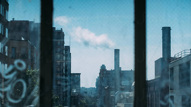 SEATTLE THROUGH THE WINDOW by Rob Martinez for Stocksy United