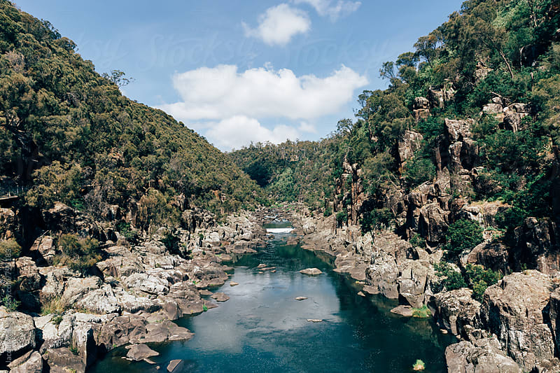South Esk River from Cataract Gorge Reserve, Launceston, Tasmania - horizontal by Jacqui Miller for Stocksy United
