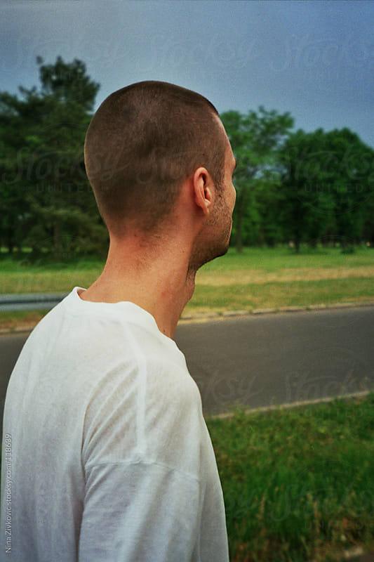 A boy on the street. by Nina Zivkovic for Stocksy United