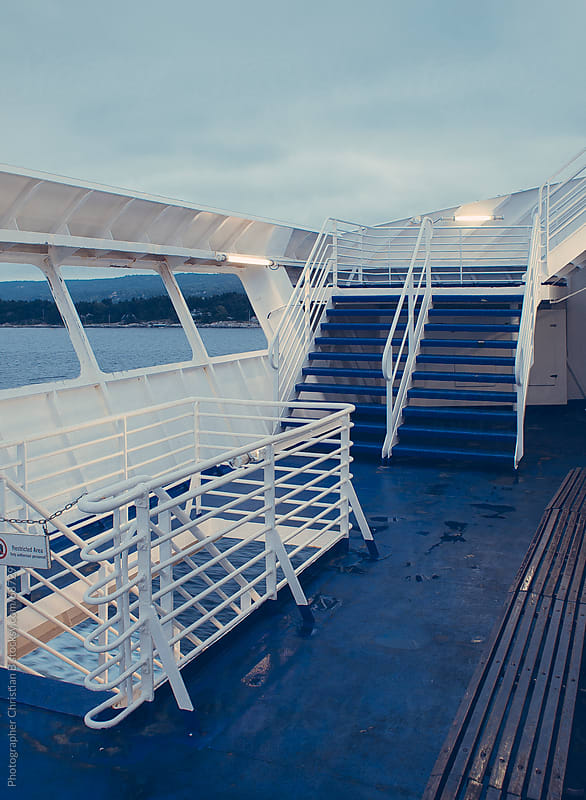 Stairs on ferry by Photographer Christian B for Stocksy United