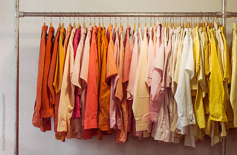 Clothing Rack with Shirts by VISUALSPECTRUM for Stocksy United