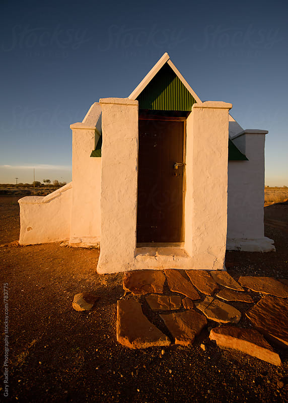 Building at Dusk in the Outback by Gary Radler Photography for Stocksy United