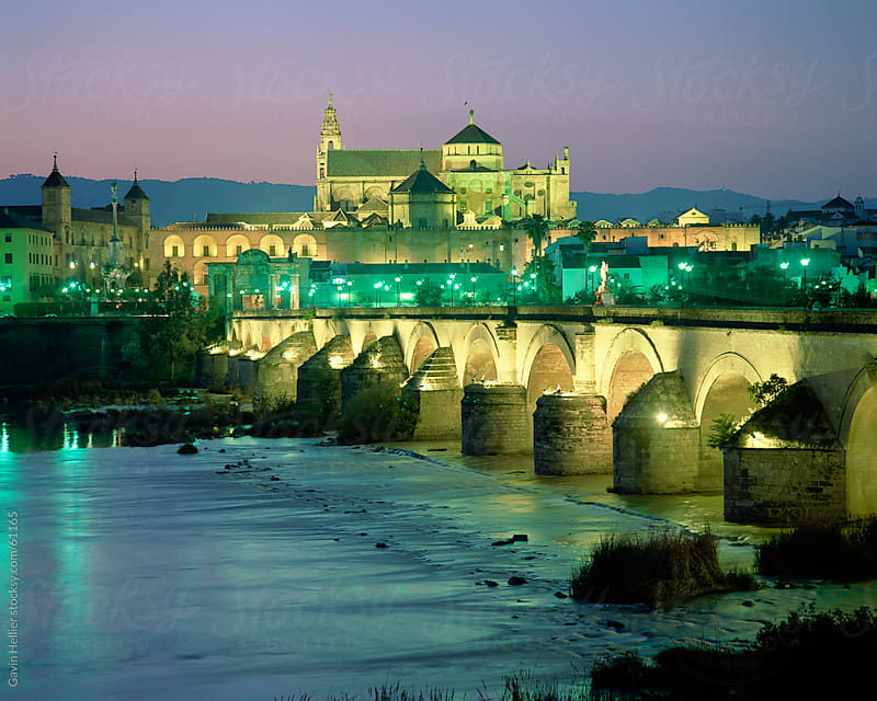 Cathedral and Roman bridge, Cordoba, Andalucia, Spain by Gavin Hellier for Stocksy United