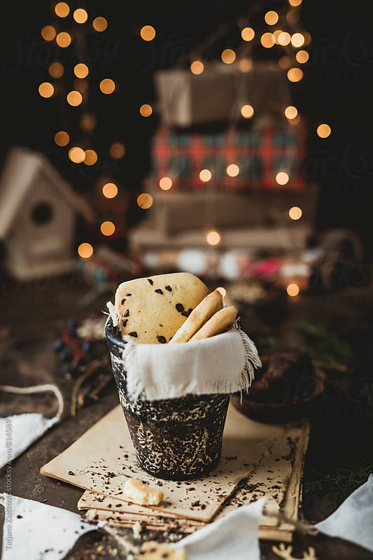 Cookies with Christmas decoration by Tatjana Ristanic for Stocksy United