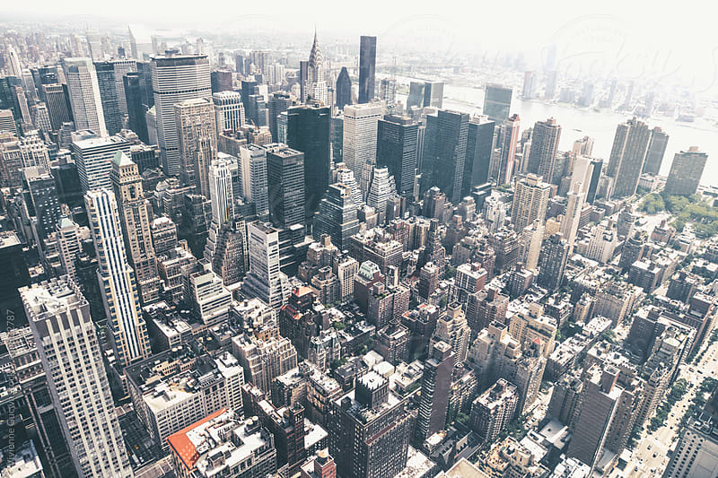 New York City Skyline on a Hazy Day by Vivienne Gucwa for Stocksy United