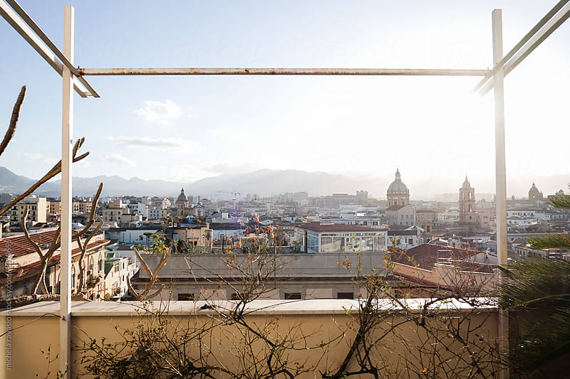 Palermo view from a balcony by michela ravasio for Stocksy United