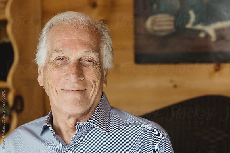 Portrait of Senior Man by Raymond Forbes LLC for Stocksy United