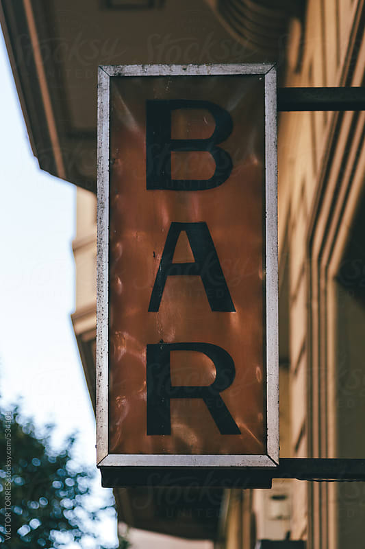 Old Classic Bar Sign by VICTOR TORRES for Stocksy United