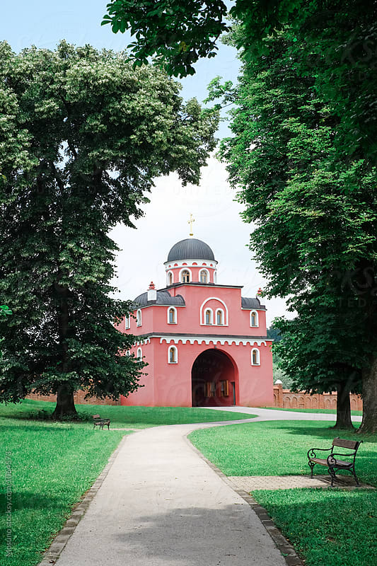 Entrance of Medieval Orthodox Monastery by Mosuno for Stocksy United