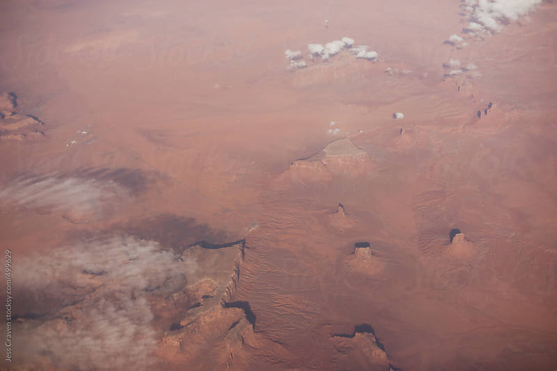 Monument Valley Navajo Tribal Park from an airplane window by Daring Wanderer for Stocksy United
