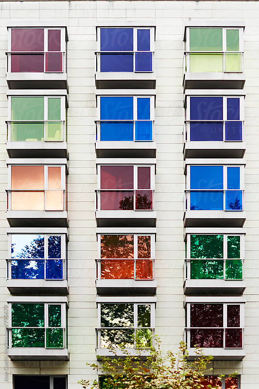 Colourful façade by Jose Coello for Stocksy United