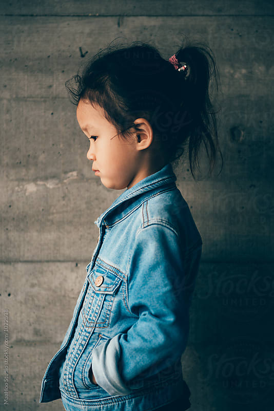 Portrait of toddler girl by Maa Hoo for Stocksy United