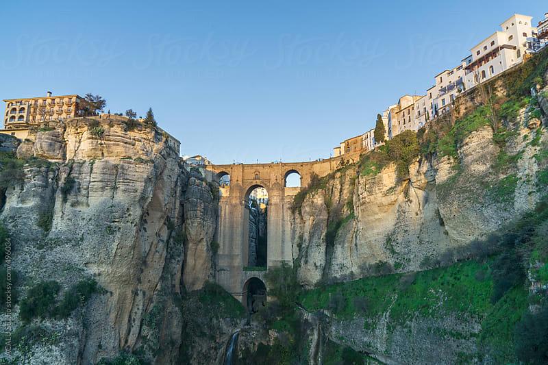 View of  bridge on the El Tajo in Ronda city by ACALU Studio for Stocksy United