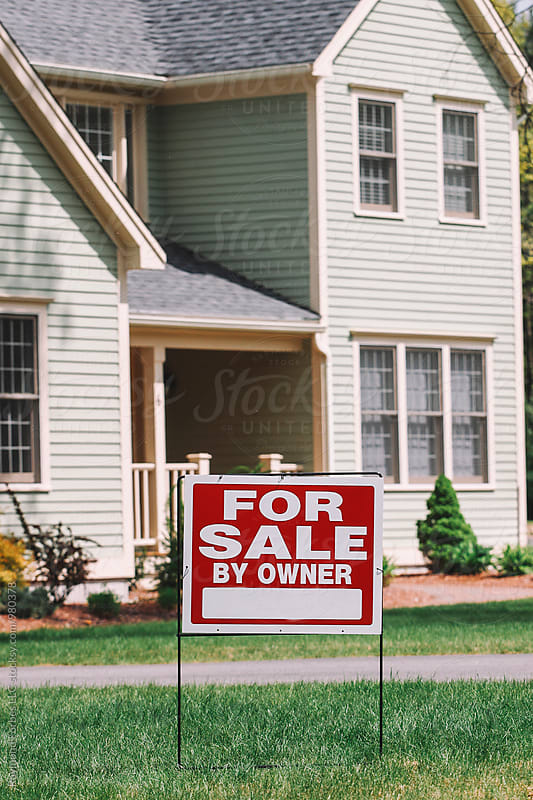 House for Sale Sign by Raymond Forbes LLC for Stocksy United