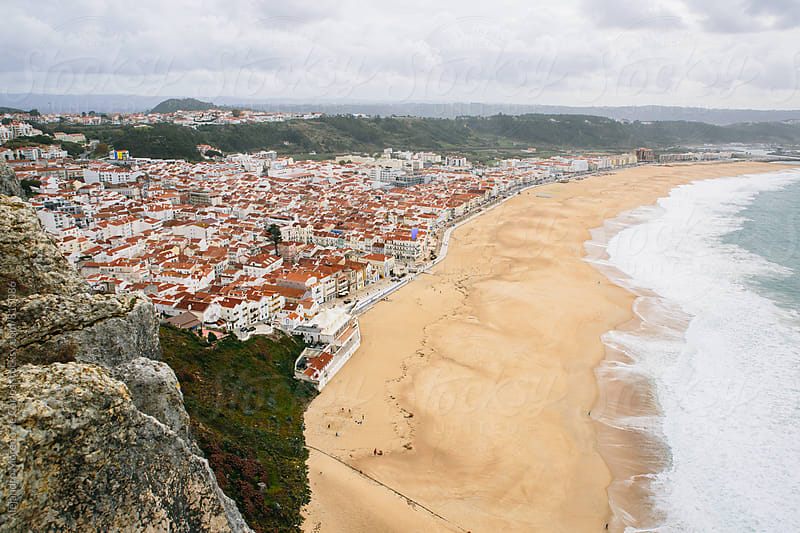 Natural scenic and city view from above a cliff by Alejandro Moreno de Carlos for Stocksy United