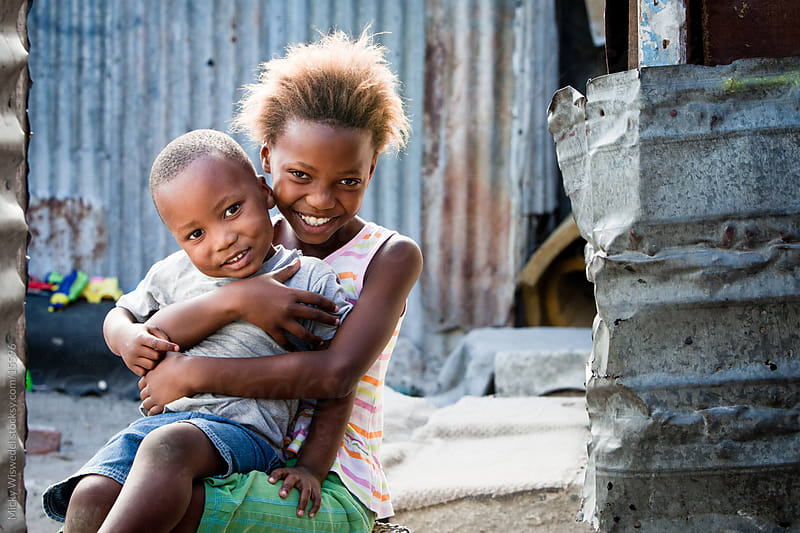 Cute African Siblings by Micky Wiswedel for Stocksy United