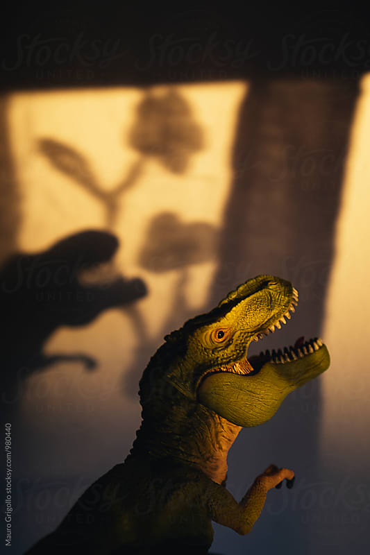 Dangerous dinosaur irrupted at home by Mauro Grigollo for Stocksy United