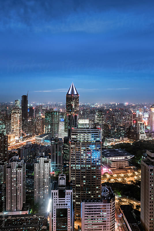 shanghai night,china by Miss Rein for Stocksy United