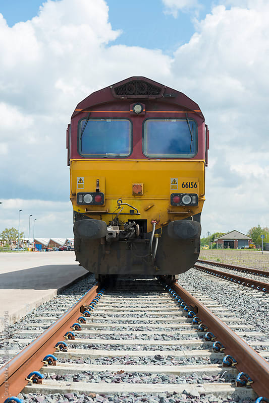 A freight train by Craig Holmes for Stocksy United