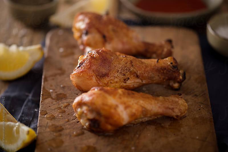 Roasted Crispy Chicken Drumsticks  by Jeff Wasserman for Stocksy United