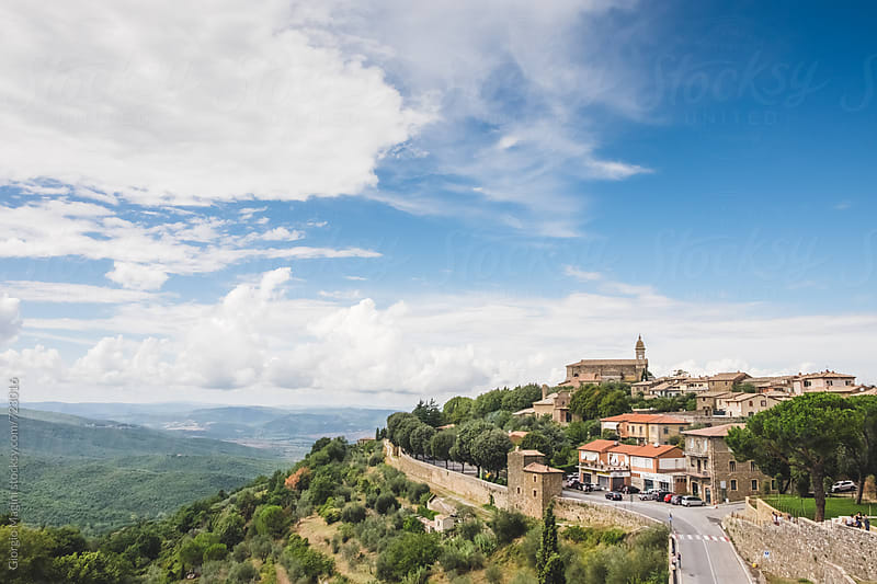Viewpoint from Montalcino, Old Tuscan Town in Val d'Orcia by Giorgio Magini for Stocksy United